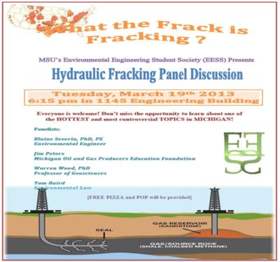 Hydraulic Fracking Panel Discussion poster